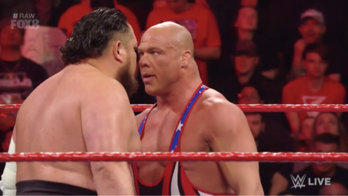 Kurt Angle Samoa Joe WWE RAW
