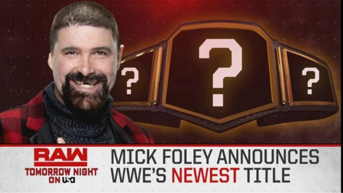 WWE RAW New Title Announcement
