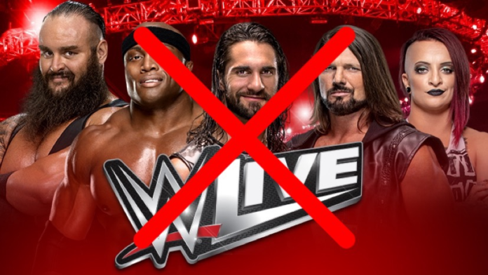 WWE Cutting Back Live Events